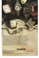 1989 Tourneau Vintage Watch Classics Advertisement