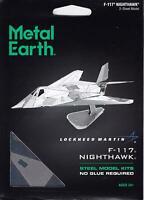 Fascinations Metal Earth Lockheed Martin F-117 Nighthawk Aircraft 3D Model Kit