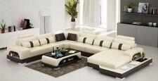 Leder U Form Wohnlandschaft Couch Big XXL Sofa Polster Ecke Garnitur Eck Senden