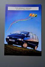 UK Sales Brochure Renault Espace Turbo Diesel  1994