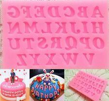 Alphabet Letter Silicone Fondant Sugarpaste Chocolate Mould Cake Decoration Tool
