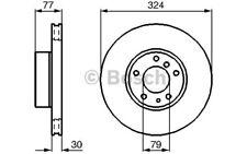 BOSCH Disco de freno (x2) 324mm ventilado BMW Serie 5 7 8 0 986 479 116