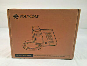 Polycom VOIP Business Desktop Phone CX300 Black with Speakerphone (New In Box)
