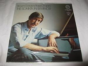 Steven Gordon Record LP Chopin SEALED Sonata in B Minor RR Audiophile Classical