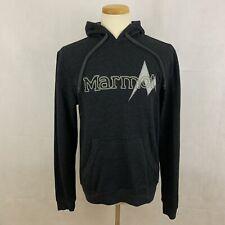 Marmot Men's Hooded Sweatshirt - Big Logo - Small - Gray