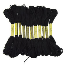 Black Embroidery Floss Thread for Cross Stitch Handcraft Tool Solid Color DIY
