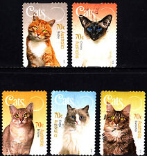 Australia 2015 Cats Complete Set of Stamps P Used S/A