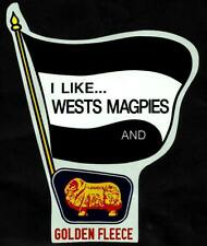 I LIKE WESTS MAGPIES & GOLDEN FLEECE Vinyl Decal Sticker WESTERN SUBURBS NRL