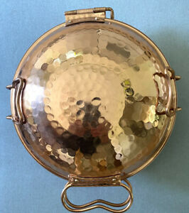 "Sur La Table Hammered Copper Cataplana Paella Pan 8"""