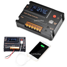 12/24V USB 20A Auto Switch LCD Solar Charge Battery Intelligent Controller CA