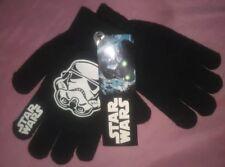 Nwt Star Wars Stormtrooper Kids Stretch Gloves Disney Helmet Winter Black White