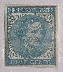 Travelstamps: US CSA STAMPS SCOTT #6 JEFFERSON DAVIS 5 CENT MOGH