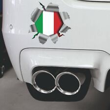 Torn Ripped 3D Effect  Italian Flag Italy Car,Bumper Vinyl Decal Sticker