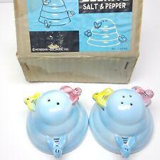 Menschik-Goldman Blue Beehive Salt and Pepper Shakers