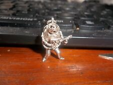 THE BEATLES GUITAR HOLDING, MOVING ARMS, GENUINE BEETLE SILVER CHARM 5 grams FAB