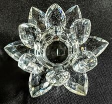 """""""TWO'S COMPANY"""" LOTUS CRYSTAL FACETED GLASS CANDLE HOLDER - VOTIVE/ TEA/ PILLAR"""