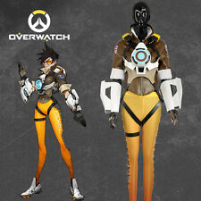 Game OW Overwatch Tracer Cosplay Costume Lena Oxton Nanosuit Clothing Customi56d