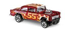 Hot Wheels Cars - '55 Chevy Bel Air Gasser Matt Red