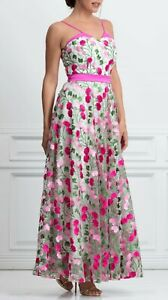Brand new without the tags Maxi dress in gorgeous embroidered fabric, size 8