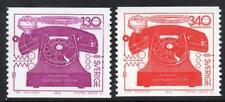 La Suède neuf sans charnière 1976 SG883-4 Téléphone centenaire