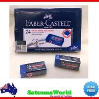 Eraser FABER CASTELL Dust Free 3pcs Break resistant model 187170 pastel clean