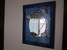 Vintage Stain Glass Wall Hung Mirror Artist Made