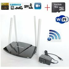 WIFI p2p 1080p router domestico Registratore Spy Camera nascosta Video Mini telecamera dvr+16gb