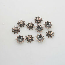 80pcs antiqued copper flower bead cap findings X0214