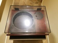 Technics rosewood  SP-15/SP-25 Turntable base SH-15B2, dustcover, and hinges