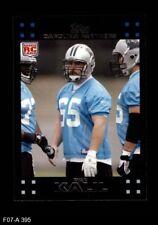 2007 Topps #395 Ryan Kalil Panthers NM/MT