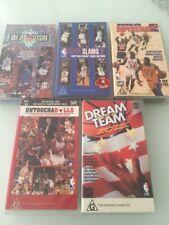 VHS Bulk Lot of 5 NBA BASKETBALL including DREAM TEAM, Untouchabulls, Superstars