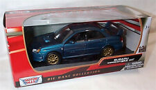 Subaru Impreza WRX STI Aqua Blue New in box 1-24 scale model Motor Max