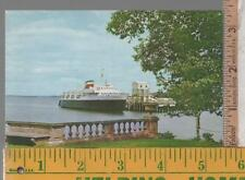 VINTAGE UNUSED FERRY POST CARD BLUENOSE  BAR HARBOR ME TO YARMOUTH, NS DOCKSIDE