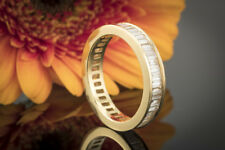 Schmuck Memoire Ring mit Baguette Diamanten rundum 1,60 Ct. in 750er Gelbgold 57