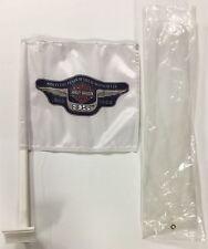 Harley Davidson 95th Anniversary White Flag For Touring Saddle Bag