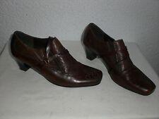 VAN DER LAAN Western-Style Echt-Leder Pumps Stiefeletten Braun Gr.38 Damenschuhe