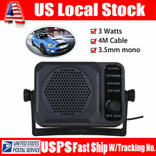 Mini External CB Radio Speaker Voice Booster Radio Walkie Talkie Transceiver 3W