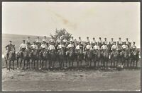 CAVALRY WW1 HORSES RYDERS SQUADRON ANTIQUE WAR HORSES RPPC PHOTO POSTCARD