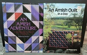 2 Amish Quilt Books Lot : An Amish Adventure & An Amish Quilt In A Day