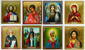 Gold Foil Christian Religion Icons Jesus Christ for Home Иконы Для Дома Разные