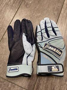 Rare Father's Day Powerstrap Chrome Franklin Batting Gloves - MLB Issued Medium