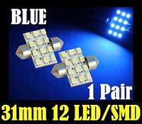 31mm 32mm 33mm BLUE LED Festoon Car Interior Light Bulb Fast Post Aussie Seller