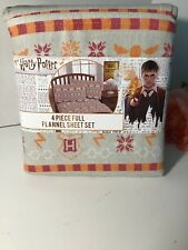 NWT Harry Potter 4-Piece Full Size Flannel Sheet Set