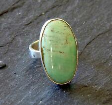 Ring mit Variscit, 925er Silber, Gr 16,2 - Variszit -