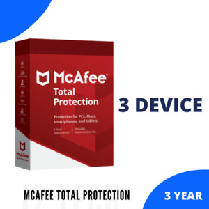 McAfee Total Protection Antivirus 2021 | 3 Device 3 Year