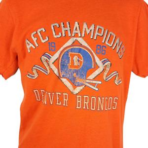 Denver Broncos T Shirt Vintage 80s 1986 AFC Champions NFL Made In USA Medium