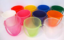 Set of 4 x Shiny 14cm Buckets-UK Made-Party Bag/Beach/Garden/Full Moon/Cocktails