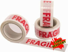 144 Rolls of FRAGILE Printed Parcel Tape 48mm x 66M
