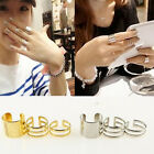 3Pcs Set Gold Silver Plated Shiny Fashion Band Midi Finger Knuckle Stack Rings