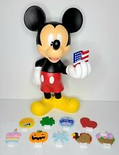 """New listing Disney Mickey Mouse 18.5"""" Rare Retired Happy Everything Garden Statue"""